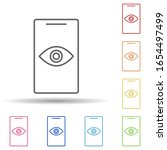 eye on a smart phone in multi...