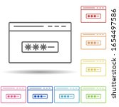 browser password in multi color ...