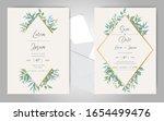greenery wedding invitation... | Shutterstock .eps vector #1654499476