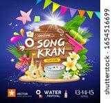 songkran festival in thailand...   Shutterstock .eps vector #1654516699