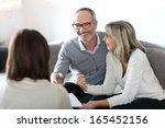 senior couple meeting financial ... | Shutterstock . vector #165452156
