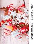 christmas gingerbread cookies   Shutterstock . vector #165452780