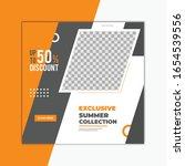 fashion sale social media post... | Shutterstock .eps vector #1654539556