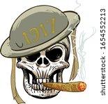 the skull in the helmet   Shutterstock .eps vector #1654552213
