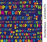 text happy birthday seamless... | Shutterstock . vector #165456473