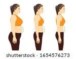 fat woman in sportswear to get... | Shutterstock .eps vector #1654576273