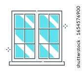 window related color line... | Shutterstock .eps vector #1654576900