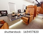 private plane interior with... | Shutterstock . vector #165457820