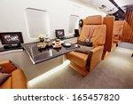 private plane interior with... | Shutterstock . vector #165457820