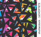 funky geometric triangle...   Shutterstock .eps vector #1654597873
