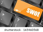 swot word on computer keyboard... | Shutterstock . vector #165460568