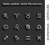 signs of the zodiac. vector... | Shutterstock .eps vector #165461186