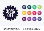 30  discount price off. sale... | Shutterstock .eps vector #1654616029