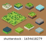 set isometric 3d trees forest... | Shutterstock .eps vector #1654618279