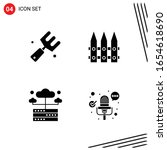 collection of 4 vector icons in ... | Shutterstock .eps vector #1654618690