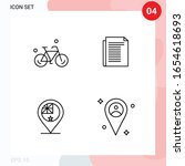 vector pack of 4 icons in line... | Shutterstock .eps vector #1654618693