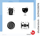 modern pack of 4 icons. solid... | Shutterstock .eps vector #1654618696