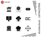 collection of 9 vector icons in ... | Shutterstock .eps vector #1654621906
