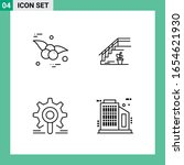 pack of 4 line style icon set.... | Shutterstock .eps vector #1654621930