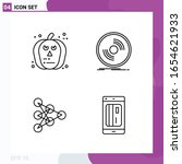 line icon set. pack of 4... | Shutterstock .eps vector #1654621933