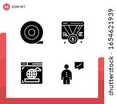 pack of 4 universal glyph icons ... | Shutterstock .eps vector #1654621939