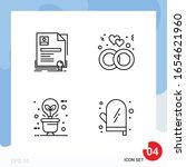 modern pack of 4 icons. line... | Shutterstock .eps vector #1654621960