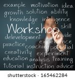 business man writing workshop... | Shutterstock . vector #165462284