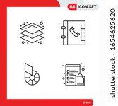 creative set of 4 universal... | Shutterstock .eps vector #1654625620