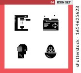 4 icon pack solid style glyph... | Shutterstock .eps vector #1654625623