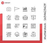 pack of 16 universal outline... | Shutterstock .eps vector #1654625629