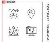 4 general icons for website... | Shutterstock .eps vector #1654625659