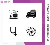 solid icon set. pack of 4 glyph ... | Shutterstock .eps vector #1654629523