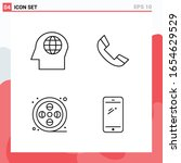 collection of 4 vector icons in ... | Shutterstock .eps vector #1654629529