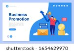 web page design with business... | Shutterstock .eps vector #1654629970