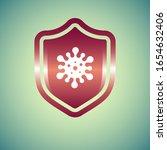 virus health protection shield. ... | Shutterstock .eps vector #1654632406