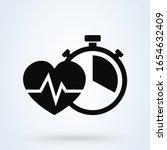 stopwatch pulse and heart... | Shutterstock .eps vector #1654632409