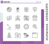 set of 16 icons in line style.... | Shutterstock .eps vector #1654633393