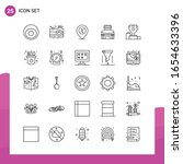 outline icon set. pack of 25... | Shutterstock .eps vector #1654633396