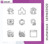 line icon set. pack of 9... | Shutterstock .eps vector #1654633420