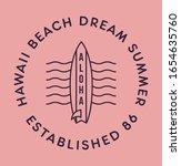 aloha hawaii t shirt design.... | Shutterstock .eps vector #1654635760
