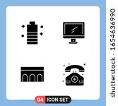 4 solid black icon pack glyph... | Shutterstock .eps vector #1654636990