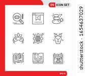 creative set of 9 universal... | Shutterstock .eps vector #1654637029