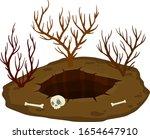 big hole in ground. desert of...   Shutterstock .eps vector #1654647910