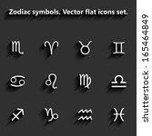 signs of the zodiac flat icons. ... | Shutterstock . vector #165464849