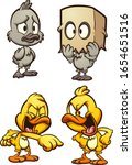 ugly duckling and bully ducks.... | Shutterstock .eps vector #1654651516