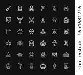 editable 36 horror icons for...   Shutterstock .eps vector #1654681216