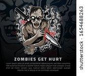 zombies get hurt vector...   Shutterstock .eps vector #1654688263