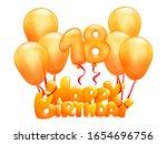 happy birthday titl flying on... | Shutterstock .eps vector #1654696756