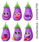 eggplant emoji cartoon... | Shutterstock .eps vector #1654696759