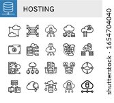set of hosting icons. such as... | Shutterstock .eps vector #1654704040